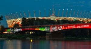 The National Stadium in Warsaw, Poland.