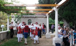 Folk dancing at the Welcome Reception at Mestrovic Gallery
