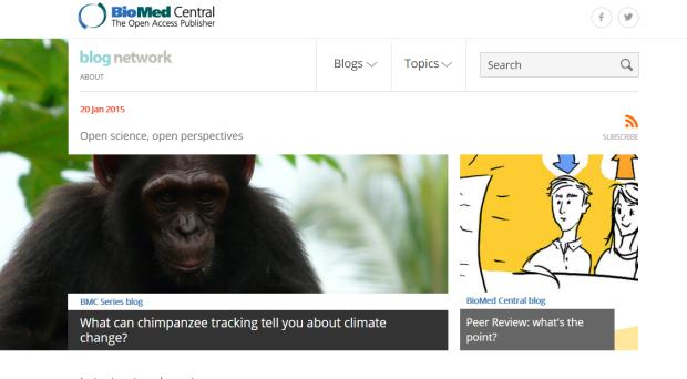 Blog network screenshot