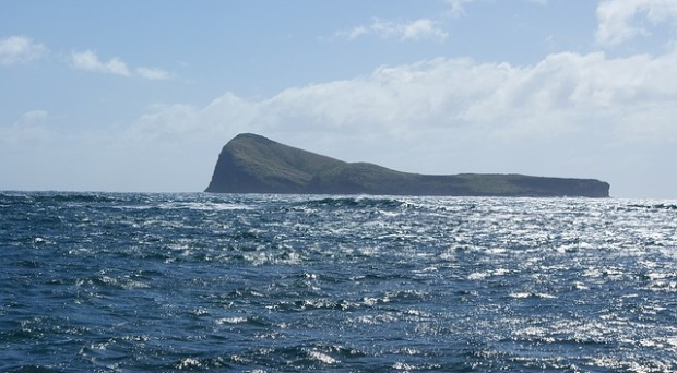 Approaching Mauritius by sea