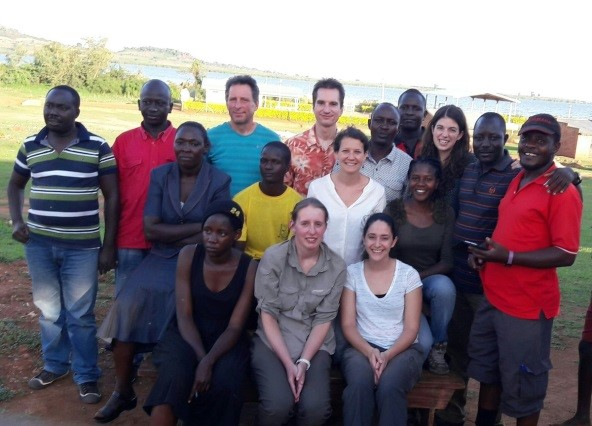 Team Uganda! Parasitologists, engineers, technicians, a nurse, drivers, a teacher and health workers! Photo credit: Bugoto villager