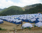 A camp for refugees from Myanmar on China side along China-Myanmar border