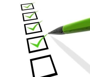Reporting checklist