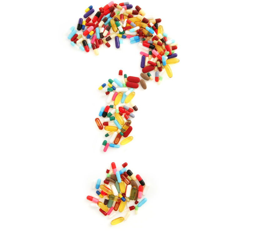 Pill question mark