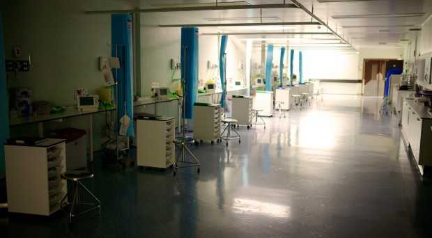 The recovery room in an NHS surgical ward