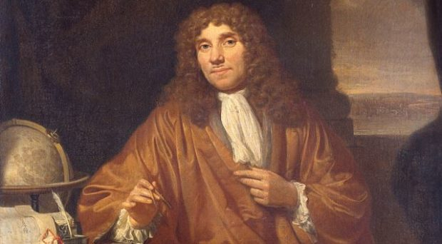"Antonie van Leeuwenhoek, ""the Father of Microbiology"" and first to observe bacteria under a microscope"