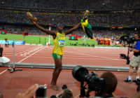 Usain Bolt wins the men's 100m final the Beijing Olympics, 2008